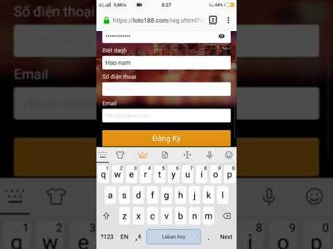 Video hướng dẫn đăng ký tài khoản Loto188 chi tiết nhất của Nhacai21.com