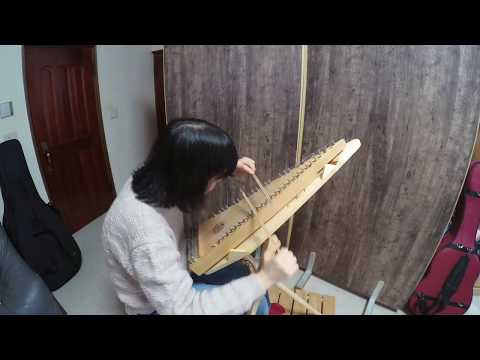 Red Haired Boy on Bowed Psaltery