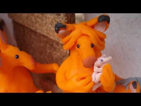 ¿Por qué los xiyos son de color naranja? Bebé xiyo de plastilina