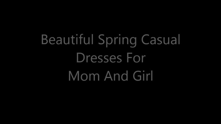 Beautiful Spring Casual Dresses For Mom And Girl
