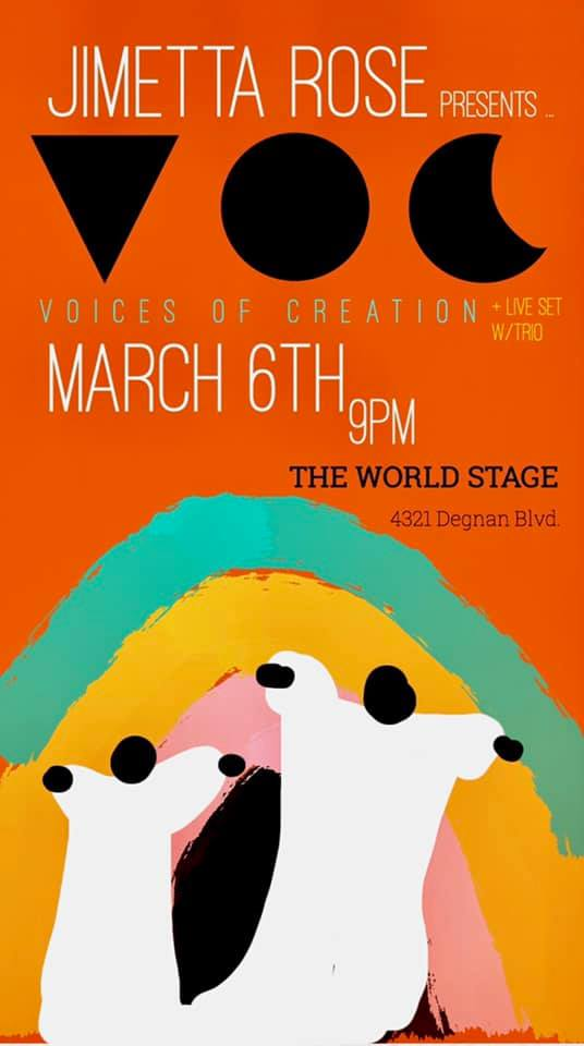 "JIMETTA ROSE Presents: ""Voices of Creation"" @ The 'newly renovated' World STAGE"