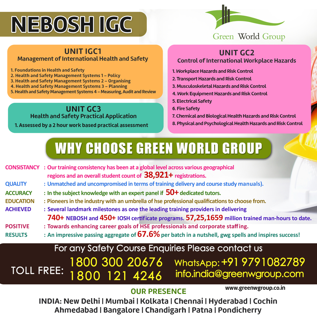 Why Study The Occupational Safety Health Nebosh Igc Course In