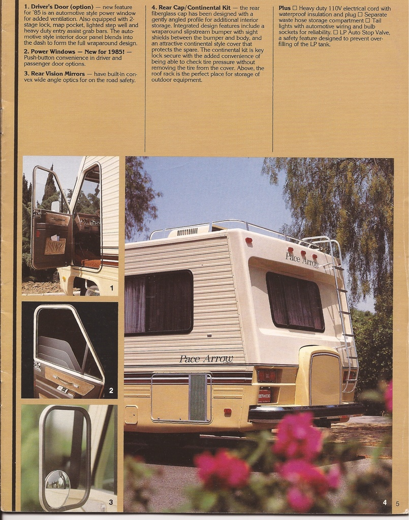 1985 Pace Arrow Sales Brochure – Good Old RVs