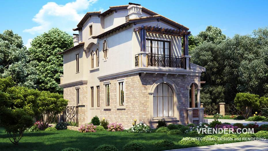 Vrender Company architectural project rendering