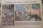 antiwar photo from 41st and Yale demonstration in Tulsa World Nov2003_with Huti Reynolds