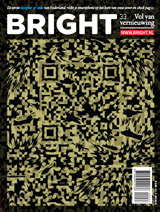 Bright magazine over designer qr-barcodes