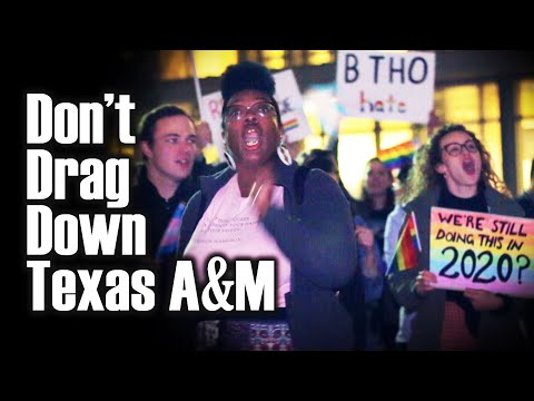 "Texas A&M Students Protest Drag Show: ""Perversity is not diversity"""
