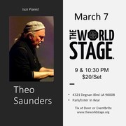 """The Pianist"" THEO SAUNDERS ""Critics Choice"" @ The 'newly renovated' World STAGE"