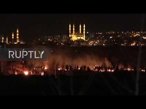Greece: Tear gas and fire as clashes erupt at Turkish-Greek border