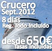 Crucero Mediterraneo Septiembre 2012 :: GRUPO YA CONFIRMADO