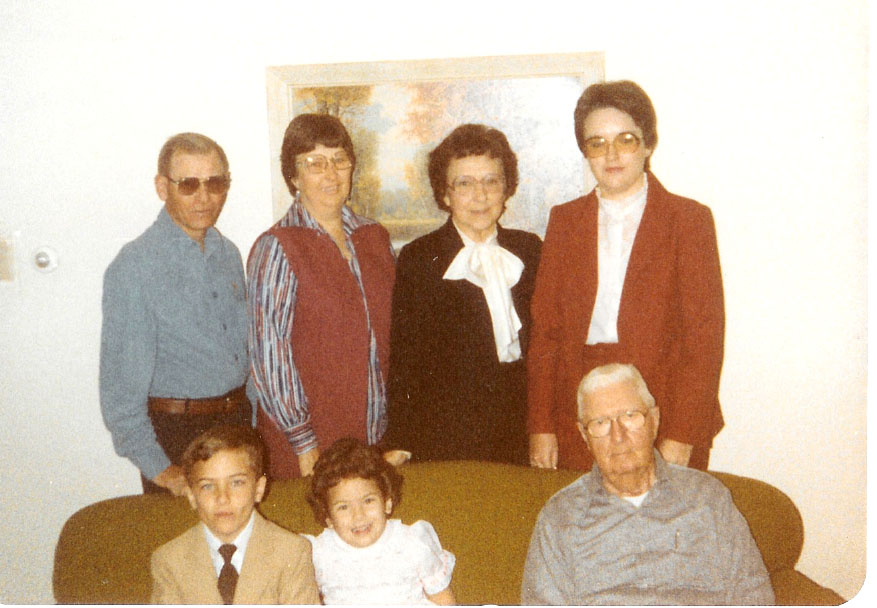 1982-Four Harris Generations (and spouses)
