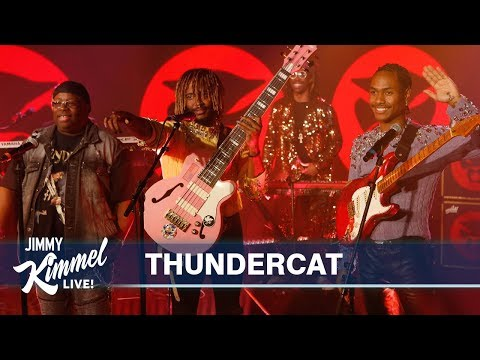 "Watch Thundercat, Flying Lotus, Steve Lacy And Steve Arrington Perform ""Black Qualls"" On 'Kimmel'"