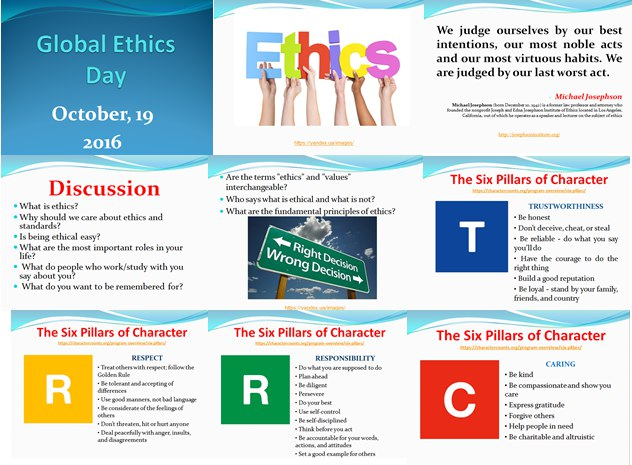 Ethical Decision Making Workshop held at the Department of