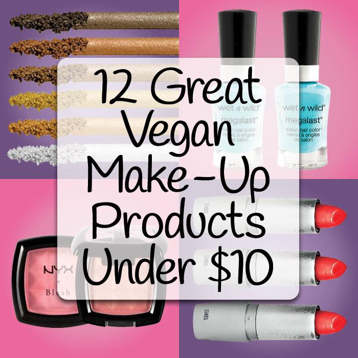 12 Great Vegan Makeup Products Under