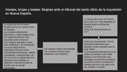 """cuadro de """"HEREJES, BRUJAS, Y BEATAS: MUJERES ANTE EL TRIBUNAL DEL SANTO OFICIO DE LA INQUISICIÓN EN LA NUEVA ESPAÑA"""""""
