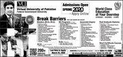 Virtual University of Pakistan (VU) Admission Schedule - Spring 2020 2