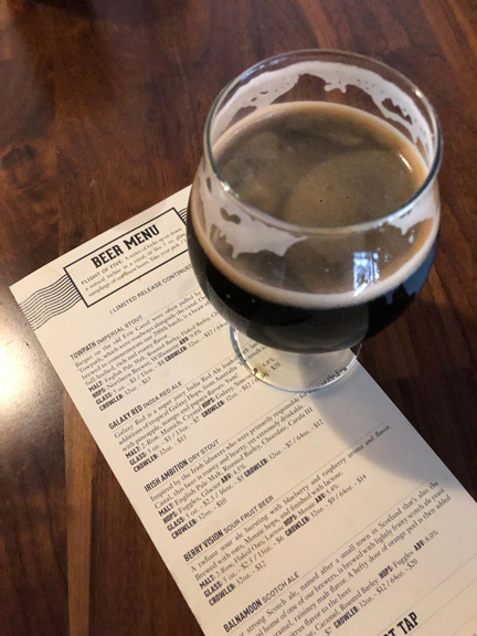 Nick Mason's Saucerful of Secrets concert. Towpath Stout at Big Ditch Brewing. Buffalo, Ny. 4-11-19
