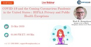 COVID-19 and the Coming Coronavirus Pandemic in the United States : HIPAA Privacy and Public Health Exceptions