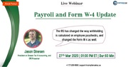 Payroll and Form W-4 Update
