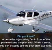 sweating pilot