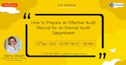 How to Prepare an Effective Audit Manual for an Internal Audit Department