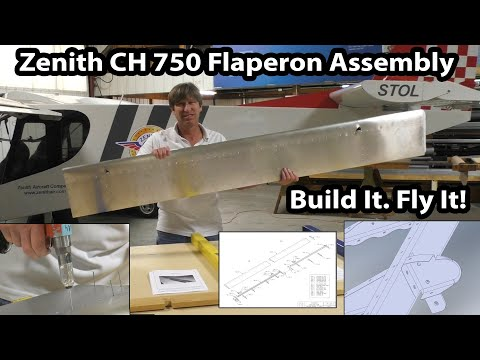 Zenith CH 750 Kit Assembly: Building the flaperons