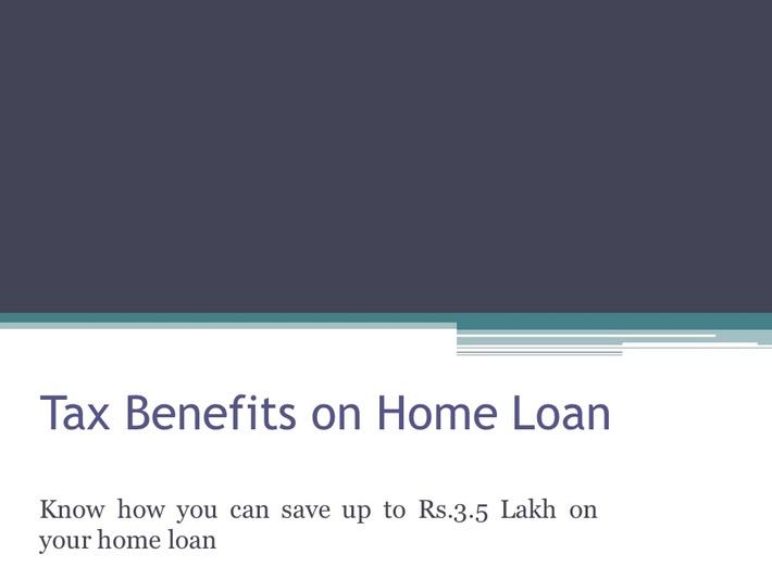 Tax Benefits on Home Loan 2020