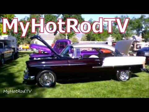 1955 Chevrolet 2 Door Hardtop up in flames ~ Death in the Family