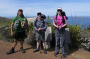 At Cape Reinga with my Trail Whanau 2018 TA Trail.