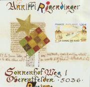 sent  to Annikki Rigendinger (Suisse )