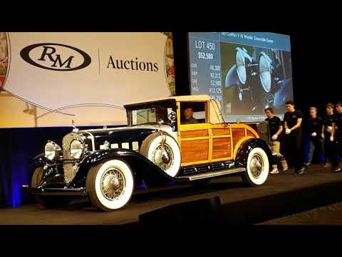 """1931 Cadillac V16 """"Woodie"""" Converible Coupe  Sells At the 2019 RM Sotheby's Hershey"""