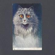 Louis Wain Raphael Tuck Postcard of Persian Cat
