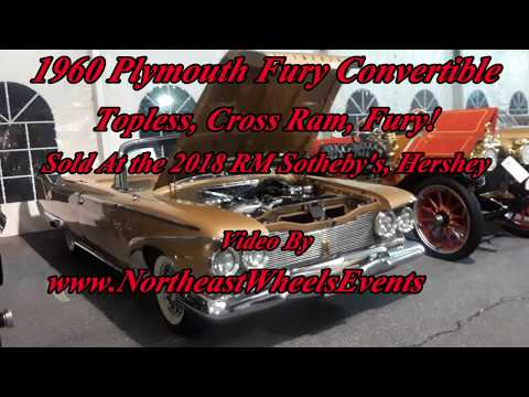 1960 Plymouth Fury Convertible Topless, Cross Ram, Fury! Sold At the 2018 RM Sotheby's, Hershey