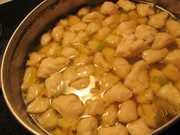 Homemade Chicken dumpling soup gift from couple across the street