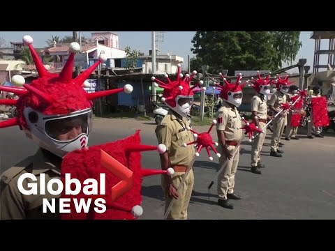 "Coronavirus outbreak: India's ""Corona cops"" in full force during lockdown"