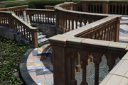 Ringling Palm Mansion zigzag steps