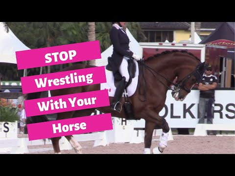 STOP Wrestling Your Dressage Horse Onto The Bit