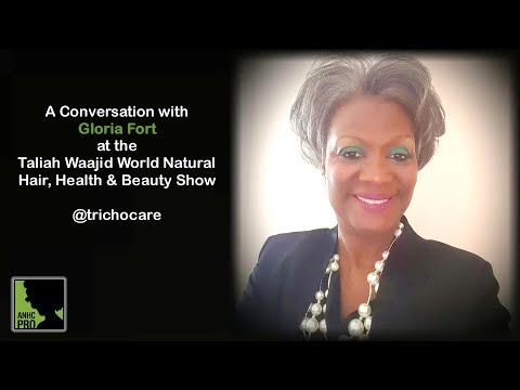 Gloria Fort at the World Natural Hair Show