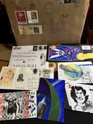 Chair full of mail-art -April 11, 2020