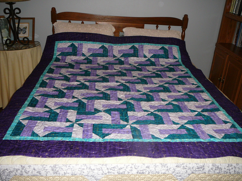 Purple and Teal Cork Quilt 2020