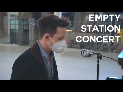 A SONG FOR THE WORLD || 'IMAGINE' EMPTY METRO STATION PIANO PERFORMANCE LONDON (Coronavirus)
