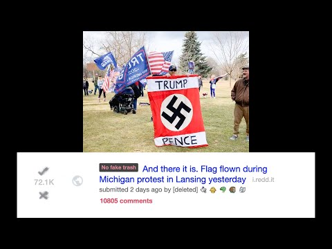 Viral Michigan Pro-Trump Swastika Photo Is a Hoax