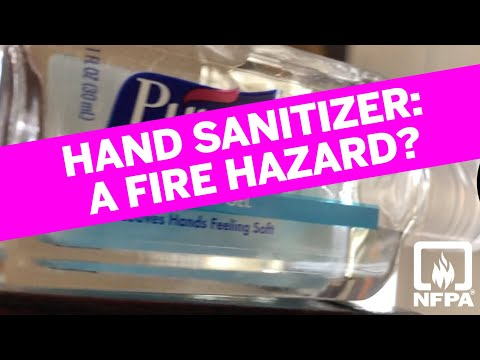 Fire safety considerations for hand sanitizer