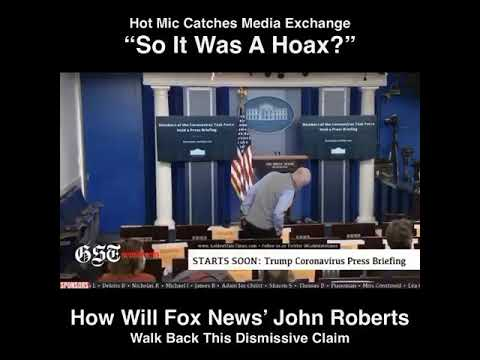 """""""So It Was a Hoax?"""" – Fox News' John Roberts Caught on Hot Mic Discussing COVID-19 Mortality Rate"""