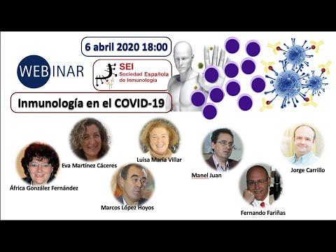 """Webinar SEI """"Inmunología en el COVID-19"""" 6 abril 2020"""