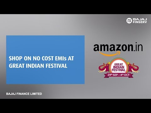 Shop at Amazon Great Indian Festival using your EMI Network Card on No Cost EMI