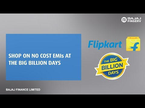 Shop at Big Billion Days using your EMI Network Card on No Cost EMI