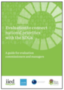 """WEBINAR - """"Evaluation to connect national priorities with the SDGs:"""""""