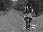 A spasso col cane.