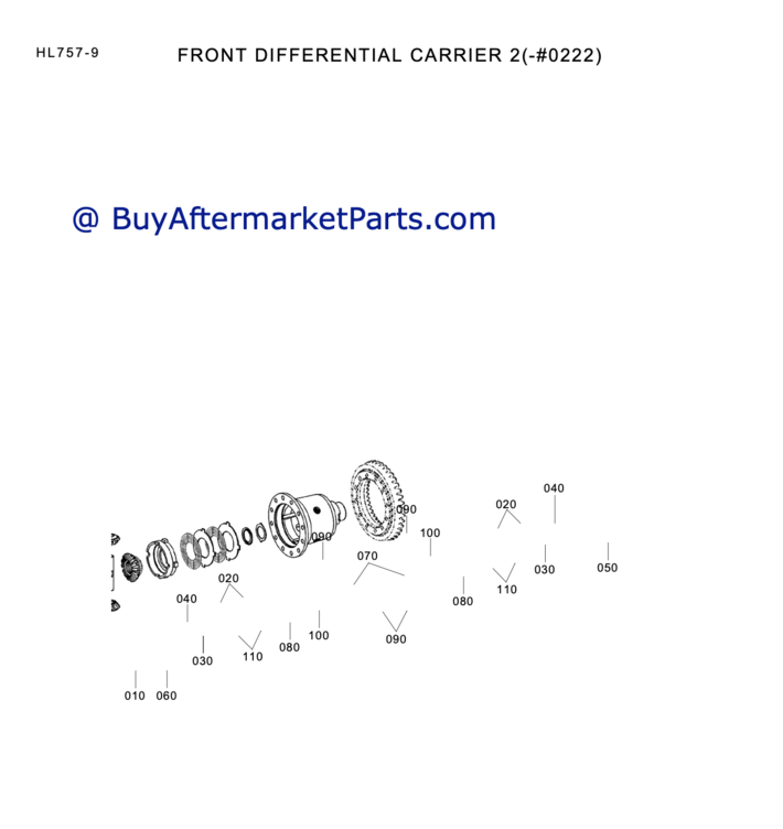 6330 front differential carrier HL757-9
